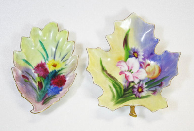 Dishes, hand painted china; Nathco; [1900-1950]; 985.2.1