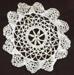 Doily, cream bobbin lace; 97.175