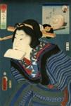 The Hurried Type (Kigaseki so), from the series, The Modern Thirty-Two Types (Imayo sanjuni so); Kunisada, Utagawa (Toyokuni III), Asian, Japanese; Edo period; HU 74.05.23
