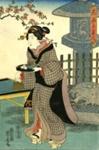 Three Beauties of Blossom Viewing Time; Yoshitora, Kinchoro; Edo period-Meiji Restoration; HU 76.07.13