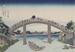 Under Mannen Bridge at Fukagawa; Hokusai, Katsushika; Edo period; HU 2000.8.2