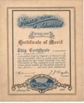 Certificate of Merit; 1931; MUS1996.76.5