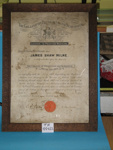 Framed certificate; 1912; TH2005.22
