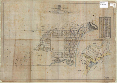 Map, County of Rous, Plan of Murwillumbah South, 1888