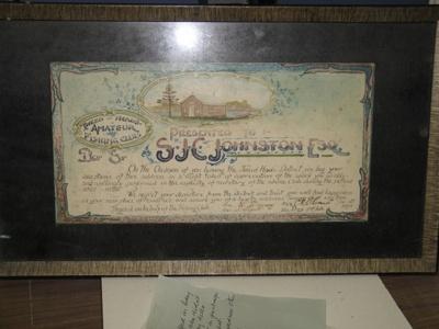 Framed Certificate; 13/12/1929; TH2010.7
