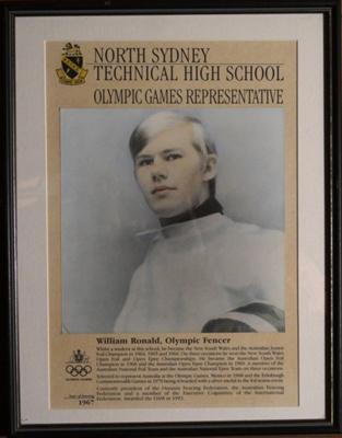 North Sydney Technical High School William Ronald - 1967 Olympic Fencer; 001-0008