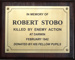 North Sydney Chatswood Junior High School Brass plaque in memory of Robert Stobo; 001-0035