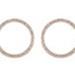 "Open circle crystal earrings belonging to Aida Overton Walker : ""The Queen of the Cakewalk"". ; Herman Marcus; 1878; 2017.15"