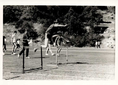 Photographs 1986- hurdles; 1986; 110.144