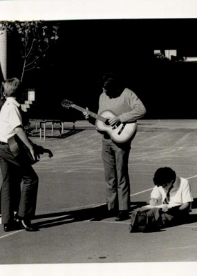Photographs 1986- playing the guitar; 1986; 110.130