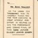 Photographs 1966- Certificate - Tony Walker; 1966; 90.32