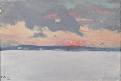 Talvimaisema / Vinterlandskap / Winter landscape; Järnefelt, Eero; 1902; DAM1028
