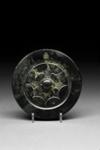 Pyöreä, kohoreunainen peili / Rund spegel med upphöjd ytterkant / Circular mirror with raised rim; 206 BC-220 AD; DAM6119