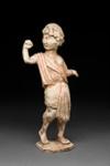 Hautaveistos, kävelevä  nuorukainen / Gravfigurin, gående yngling / Tomb figurine, youth walking; 618-907 AD; DAM6268
