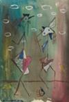 Kaksi lintua / Två fåglar / Two birds ; Kandelin, Ole; 1946; DAM1041