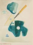 Sommitelman luonnos XV / Studie till composition XV / Study for composition XV; Kandelin, Ole; 1946; DAM1042