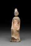 Hautaveistos, seisova nainen / Gravfigurin, stående kvinna / Tomb figurine, standing woman; Wei-dynasty; DAM6170