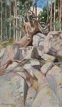 Kaadettu honka / Den fällda furan / The felled pine; Halonen, Pekka; 1905; DAM1032