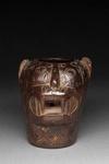 Kissaeläimen pään muotoinen kero-pikari / Kero-bägare i form av ett kattdjurshuvud / Kero-beaker with a feline head; AD 1550 - 1700; DAM7760