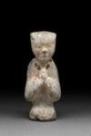 Hautaveistos, polvistuva nainen / Gravfigurin, knäböjande kvinna / Tomb figurine, woman kneeling; Han-dynasty; DAM6132