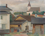 Kaupunkikuva, Naantali / Stadsbild, Nådendal / View of the city, Naantali; Ekelund, Ragnar; 1932; DAM1018