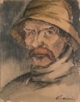 Kalastaja / Man in sydväst / Fisherman ; Cawén, Alvar; 1919; DAM1009