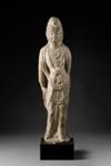 Veistos, seisova Bodhisattva / Skulptur, stående Bodhisattva / Sculpture, standing Bodhisattva; varhainen / tidig / early Tang-dynasty; DAM6248