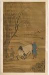 Maalaus, hevosenkesyttäjä / Målning, hästtämjare / Painting, horse tamer; 1368-1644 AD; DAM6342