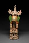 Hautaveistos, istuva maahenki / Gravfigurin, sittande jordisk ande / Tomb figurine, seated earth spirit; 618-907 AD; DAM6265