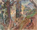 Maisema, Porto Fino / Landskap, Porto Fino / Landscape, Porto Fino ; Enckell, Magnus; 1920; DAM1020