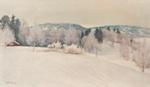 Talvipäivä Karjalassa / Vinterdag i Karelen / Winter-day in Karelia; Halonen, Pekka; 1896; DAM1030