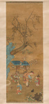 Maalaus, kauppias / Målning, handelsman / Painting shopkeeper; 1368-1644 AD; DAM6343