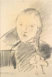 Tytön pää / Flickhuvud / A girl's head ; Cawén, Alvar; Ajoittamaton / odaterad / undated; DAM4001