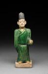 Hautaveistos, seisova mies / Gravfigurin, stående man / Tomb figurine, man standing; 1368-1644 AD; DAM6338