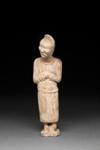 Hautaveistos, keskiaasialainen hevosenhoitaja / Gravfigurin, centralasiatisk hästskötare / Tomb figurin, groom from Central Asia; 618-907 AD; DAM6255