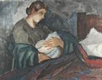 Äiti ja lapsi / Mor och barn / Mother and child; Cawén, Alvar; 1924; DAM1092