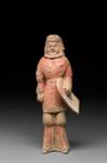 Hautaveistos, seisova soturi / Gravfigurin, stående krigare / Tomb figurine, standing warrior; Wei-dynasty; DAM6173