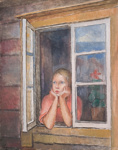 Tyttö ikkunassa / Flicka i fönstret / Girl in the window; Cawén, Alvar; 1930; DAM1007