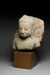 Buddhan pää ja torso / Huvud och torso av Buddha / Buddha head and torso; AD 1400; DAM6545