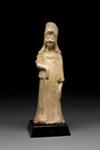 Hautaveistos, seisova nainen / Gravfigurin, stående kvinna / Tomb figurine, standing woman; Sui-dynasty; DAM6210