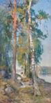 Sisäjärvimaisema / Insjölandskap / Lake landscape ; Järnefelt, Eero; 1890; DAM1034
