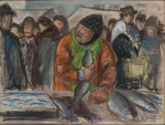 Kalaeukko Kauppatorilla / Fiskgumma på Salutorget / Fishmonger at the market; Collin, Marcus; 1937; DAM1011