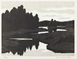 Auringon laskettua / Efter solnedgången / After sunset; Askola, Vilho; 1980; DAM2462