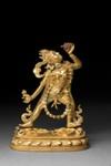 Veistos, tanssiva Sarva-Buddhakim / Skulptur, dansande Sarva-Buddhakim / Sculpture, dancing Sarva-Buddhakim; AD 1700; DAM6730