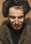 Omakuva / Självporträtt / Self portrait; Cawén, Alvar; 1908; DAM1160