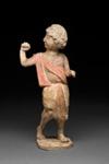 Hautaveistos, kävelevä nuorukainen / Gravfigurin, gående yngling / Tomb figurine, youth walking; 618-907 AD; DAM6267