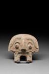 Kaksi eläinnaamiota / Ett par djurmasker / Two zoomorphic maskes; 1046-221 BC; DAM6035