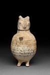 Astia, situva pöllö / Kärl, sittande uggla / Vessel, seated owl; Han-dynasty; DAM6134