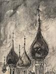Luostarin tornit / Klostertorn / Monastery towers; Lumikangas, Pentti; 1949; DAM1158