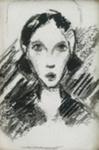 Tytön pää / Flickhuvud / A girl's head; Cawén, Alvar; Ajoittamaton / odaterad / undated; DAM1251